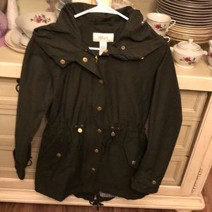 Style & Co. Green High-low Utility Coat